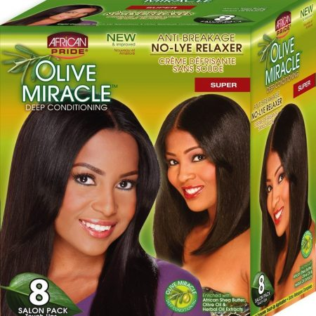 African Pride 8 Salon Pack Touch Ups Deep Conditioning Relaxer Super-0