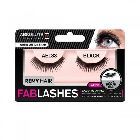Absolute New York White Cotton Band Remy Hair Fablashes- AEL 33-0