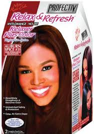 Profectiv Relax & Refresh - Relaxer plus Color Kit 2 Touch-Up Application Auburn Spice #31-0