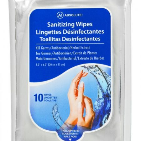 Absolute Hand Sanitizing 10 Wipes Adult-0