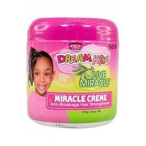 African Pride Dream Kids Olive Miracle Miracle Cream Anti Breakage Hair Strengthener 170G/6OZ.-0