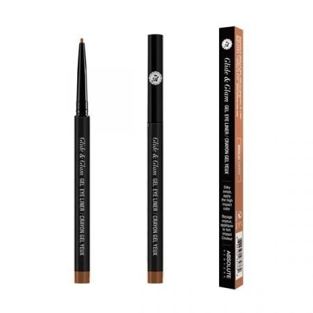 Absolute Newyork Glide & Glam Gel Eye Liner- Copper-0