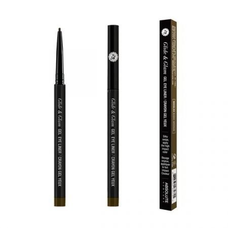 Absolute Newyork Glide & Glam Gel Eye Liner- Khaki Brown-0