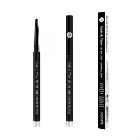 Absolute Newyork Glide & Glam Gel Eye Liner- White Pearl-0